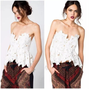 Stone Cold Fox Texas Tube Top Lace sz XS S